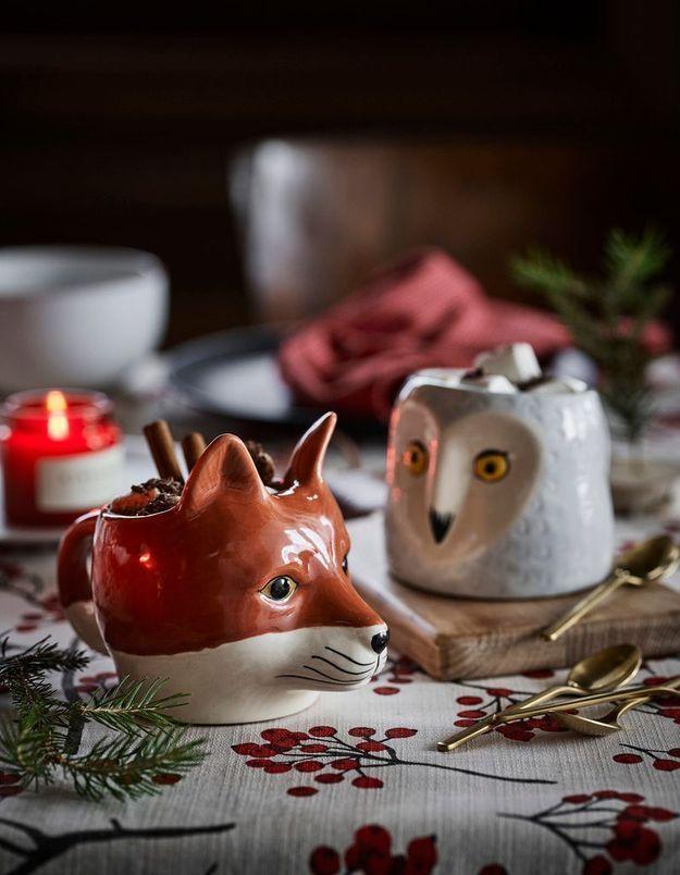 L'idée qu'on pique à la collection Noël H&M Home : faire la part belle aux animaux de la forêt