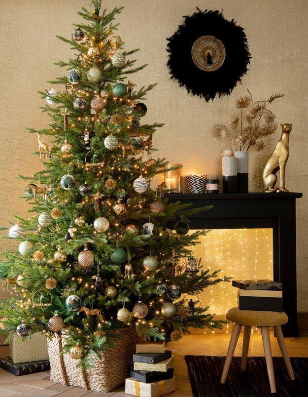 L'idée qu'on pique à la collection Noël Maisons du Monde : décorer sa cheminée