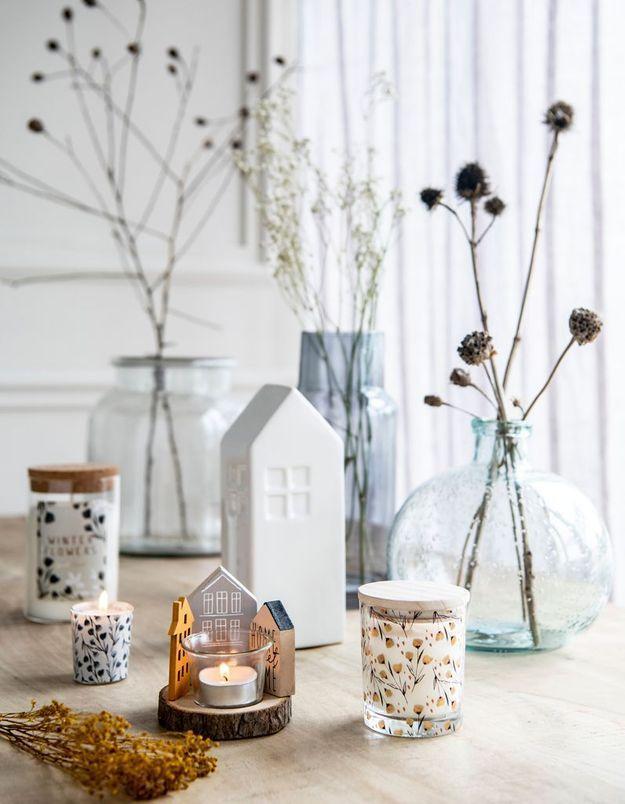 L'idée qu'on pique à la collection Noël Maisons du Monde : faire la part belle aux branches et fleurs séchées