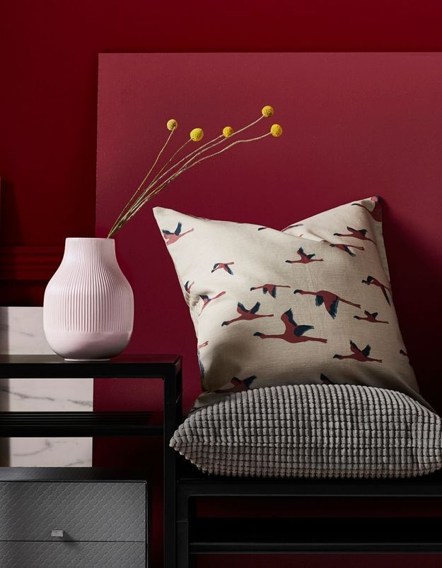 Housse de coussin imprimé flamant rose Ikea