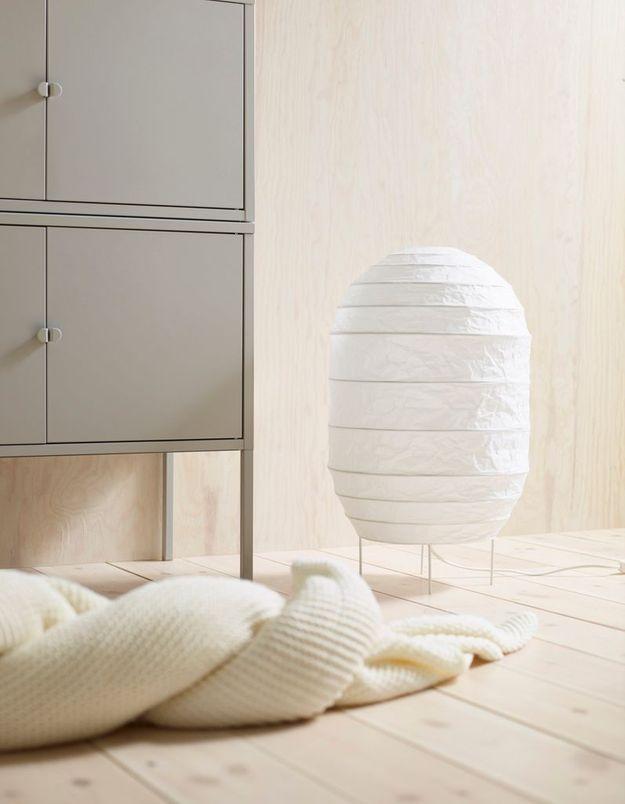 Lampe à poser en papier Ikea