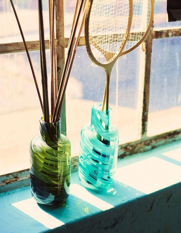 Vase en verre recyclé ikea