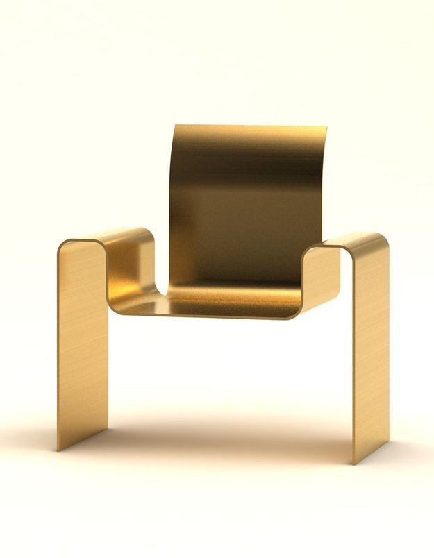 Chaise dorée