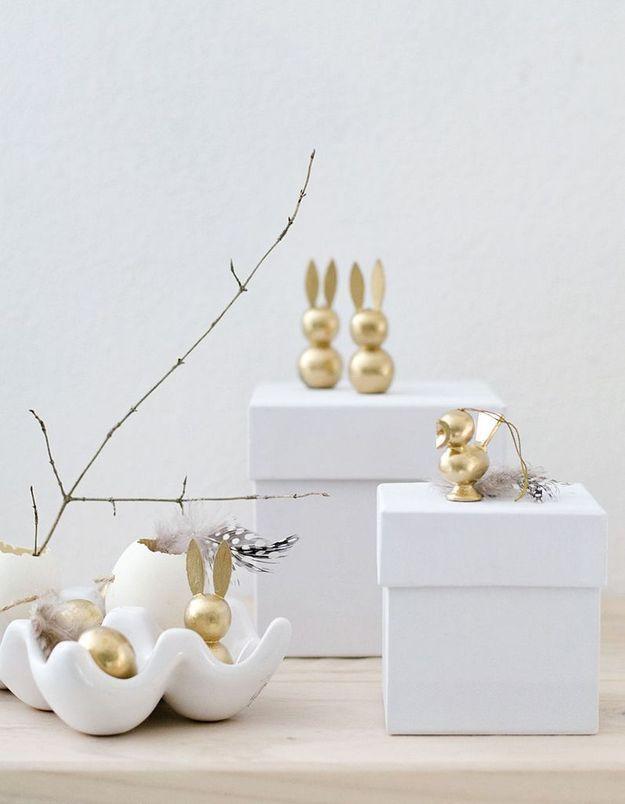 Des animaux emblématiques de Pâques réalisés en pâte à modeler à cuir au four
