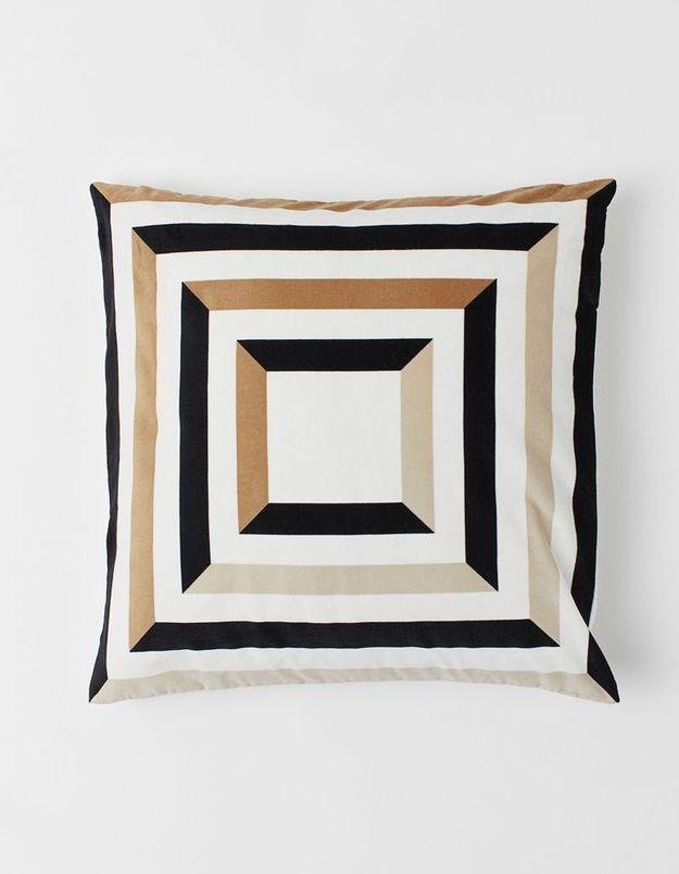 Housse de coussin à motifs géométriques H&M Home