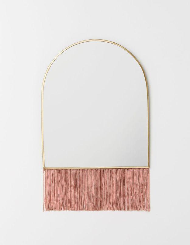 Miroir à franges H&M Home
