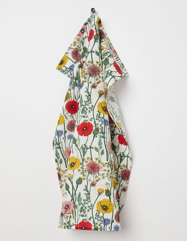 Torchon à imprimé fleuri H&M Home