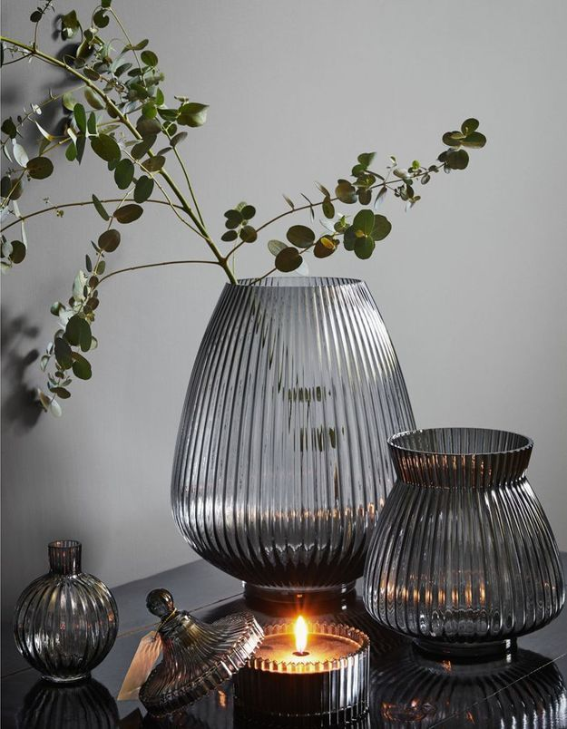 Grand vase en verre H&M Home