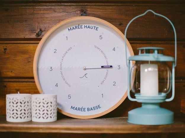 L'objet déco du jour : l'horloge des marées Ocean Clock