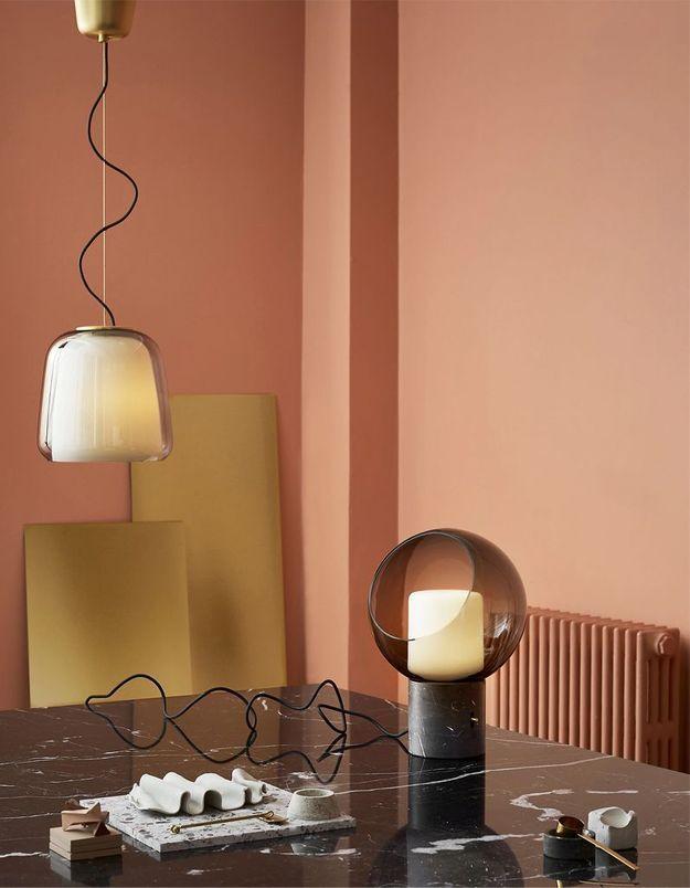 Lampe boule IKEA
