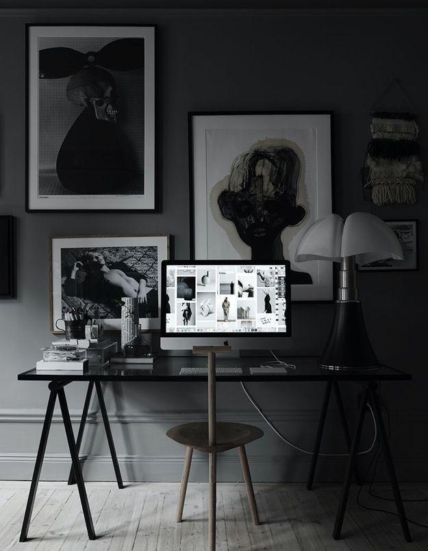 La lampe Pipistrello dans un univers black & white