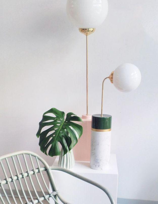 Lampe de table en marbre Houtique