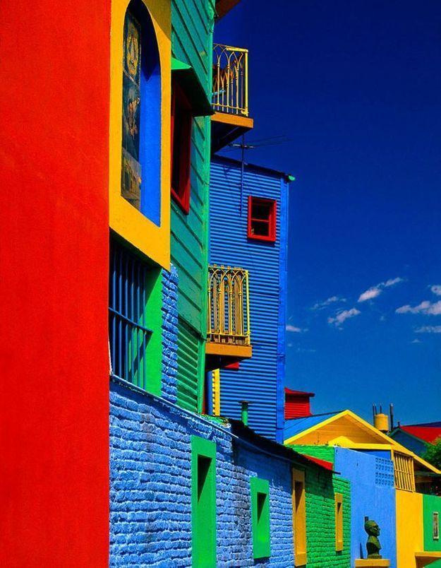 Maison colorée à Buenos Aires, Argentine