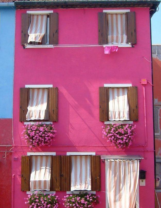 Maison colorée à Burano, Venise