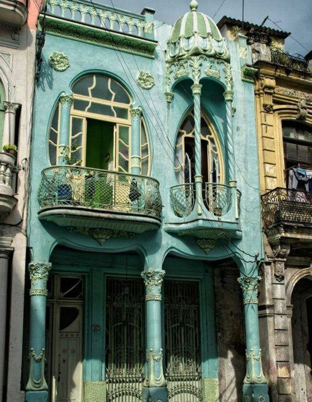 Maison colorée à La Havane, Cuba