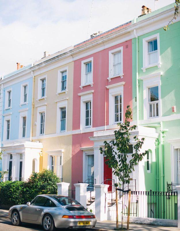 Maison colorée à Nothing Hill, Londres