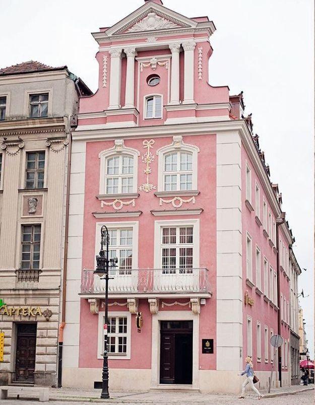 Maison colorée à Poznan, Pologne