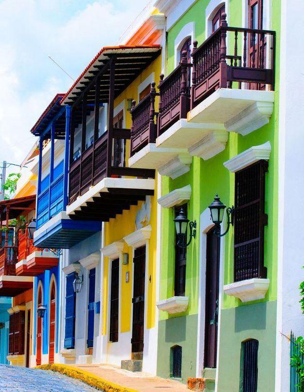 Maison colorée à San Juan, Porto Rico