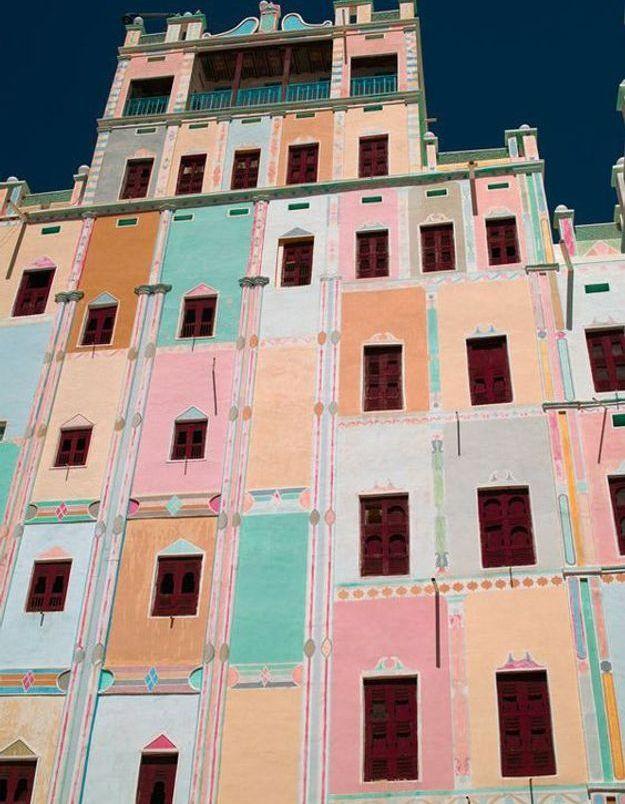 Maison Colorée à Shibam, Yémen