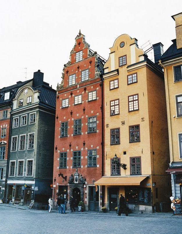 Maison colorée à Stockholm, Suéde
