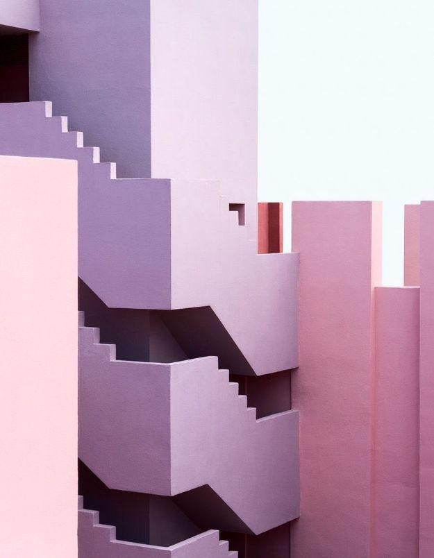 Maison colorée à Calpe, Espagne