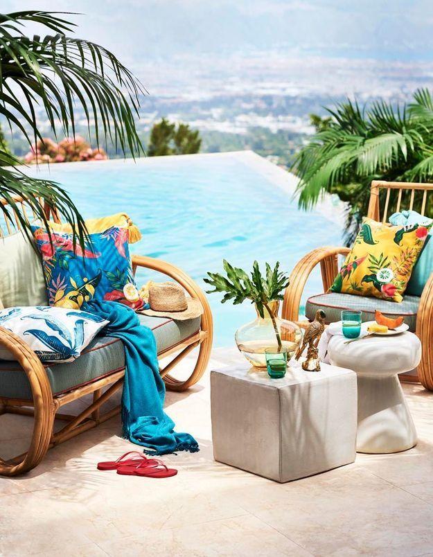 Un petit salon outdoor fun et tropical