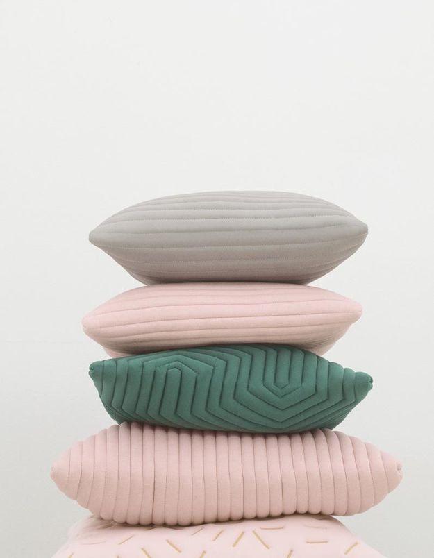 Coussins en tissu 3D pastel Nomess
