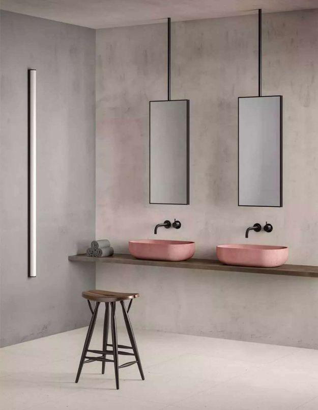 Des lavabos rose pâle design