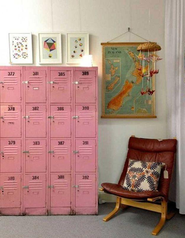 Des casiers vintage roses