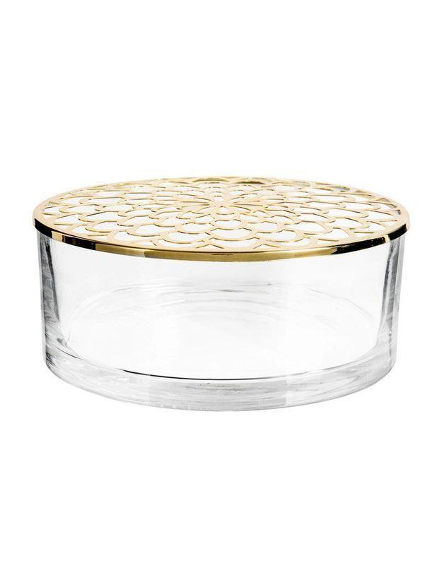 Boîte en verre et en métal ajouré Maisons du Monde