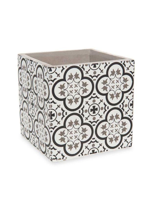 Cache-pot à motifs carreaux de ciment Maisons du Monde