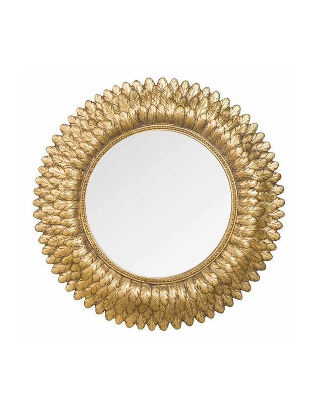 Miroir rond doré Maisons du Monde