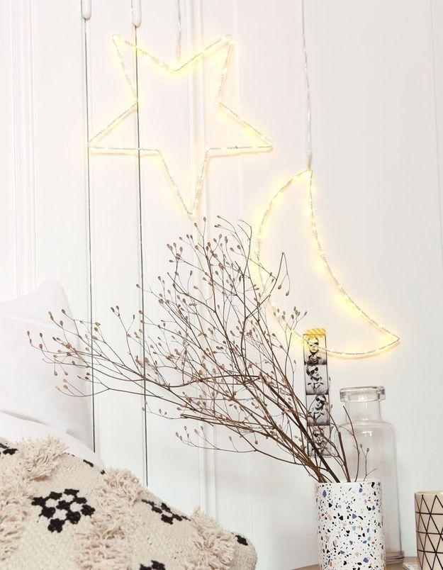 Guirlande lumineuse en forme de lune Pimkie Home
