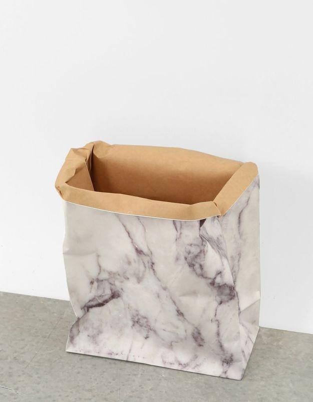 Sac en papier imprimé marbré Pimkie Home