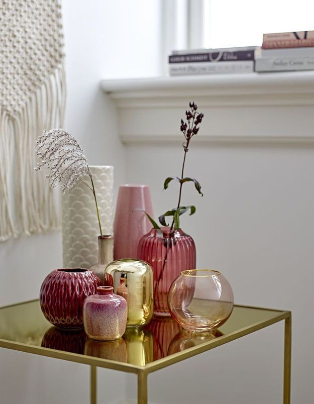 Vase doré soldé Bloomingville