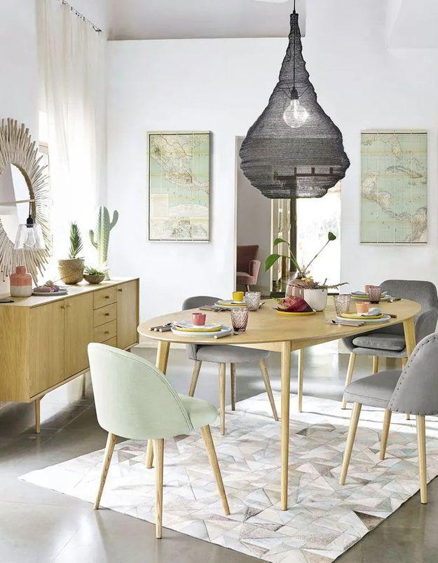Table à manger ovale soldée Maisons du Monde