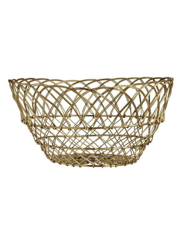 Corbeille dorée soldée H&M Home