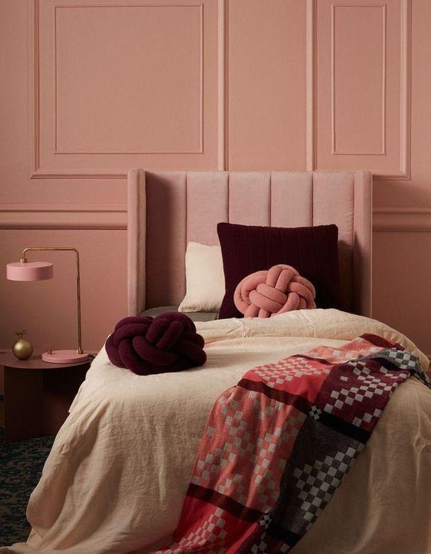 Une tête de lit en velours