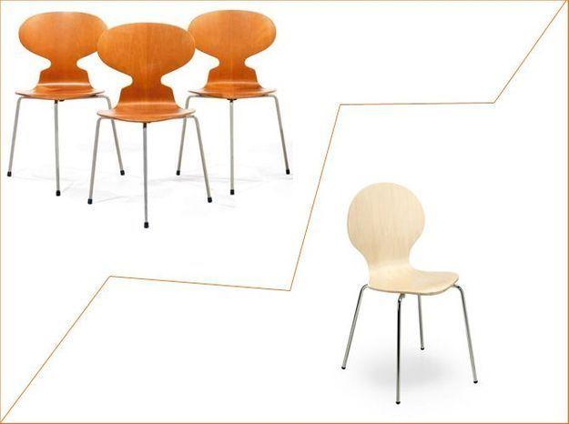 1 objet, 2 budgets : la chaise Fourmi versus la chaise de Kave Home
