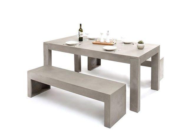Table et banc beton