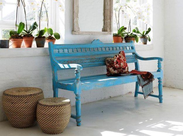 Le bleu turquoise associé à la déco ethnique