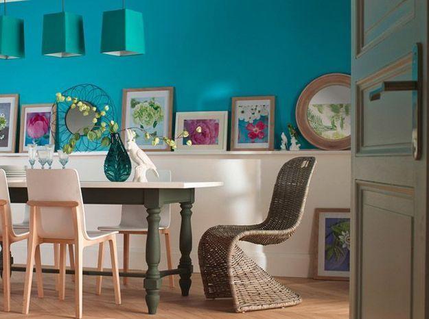 Le bleu turquoise associé au blanc