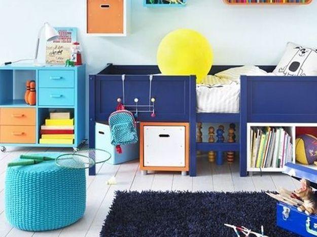 Le bleu turquoise dans une chambre d'enfant