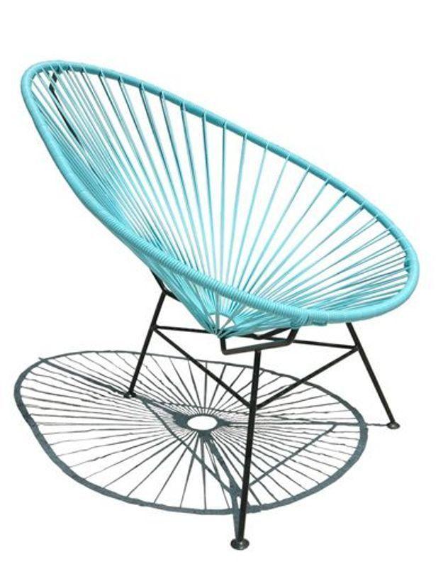 bleu vert jaune et noir la palette trendy des fifties elle d coration. Black Bedroom Furniture Sets. Home Design Ideas