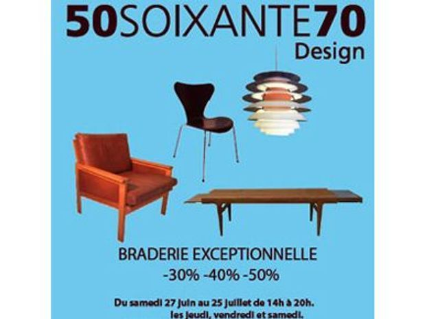 Braderie mobilier scandinave chez 50SOIXANTE70 – Paris