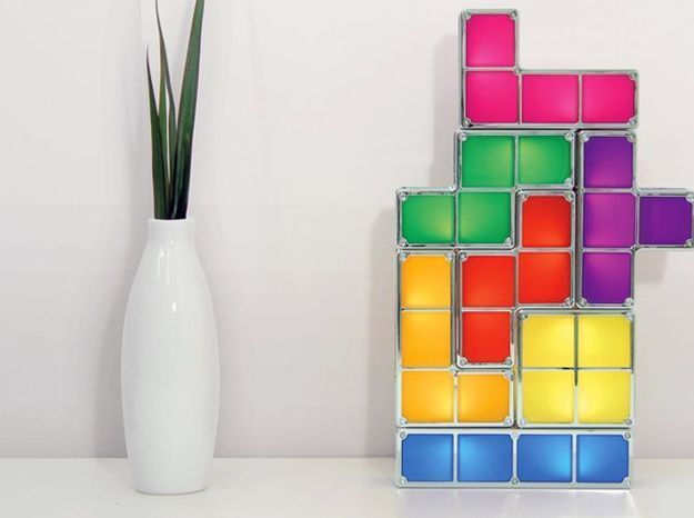 Lampe tetris fluo