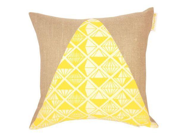 Deco jaune coussin
