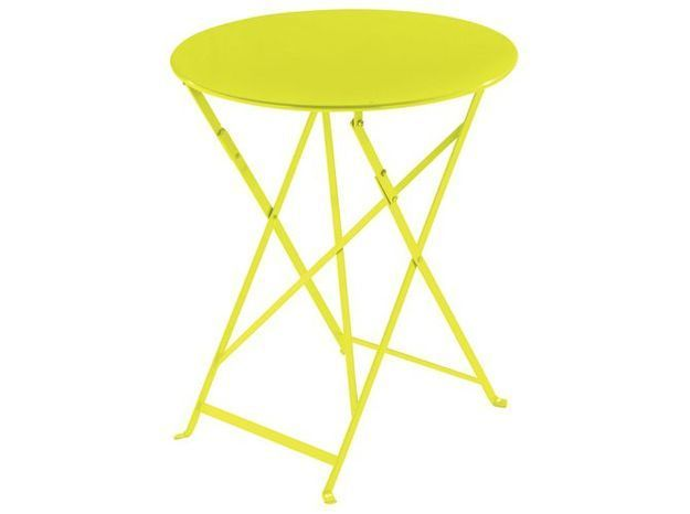 Deco jaune table jardin