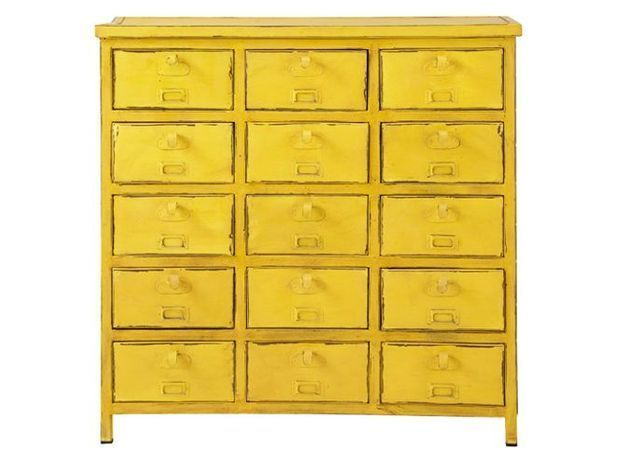 Deco jaune meuble