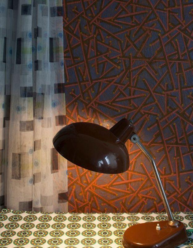 Des rideaux transparents à motifs